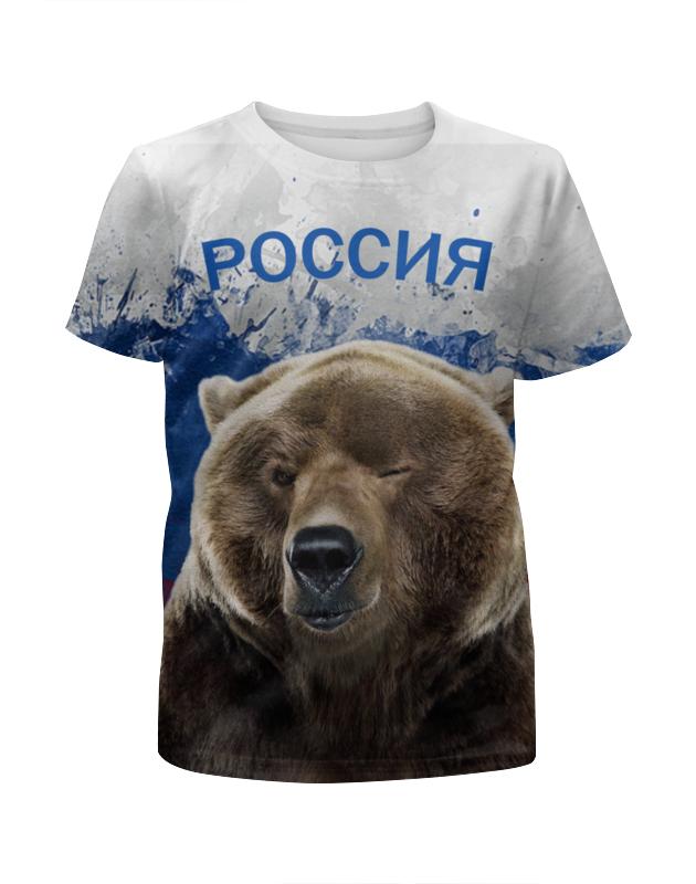 Футболка с полной запечаткой для мальчиков Printio Россия футболка россия