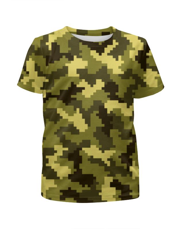 Футболка с полной запечаткой для мальчиков Printio Камуфляж-поле футболка с полной запечаткой для мальчиков printio камуфляж