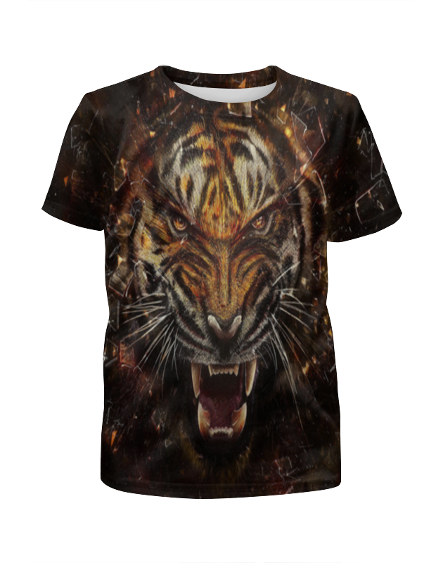 Футболка с полной запечаткой для мальчиков Printio Яростный тигр футболка с полной запечаткой мужская printio тигр 3d