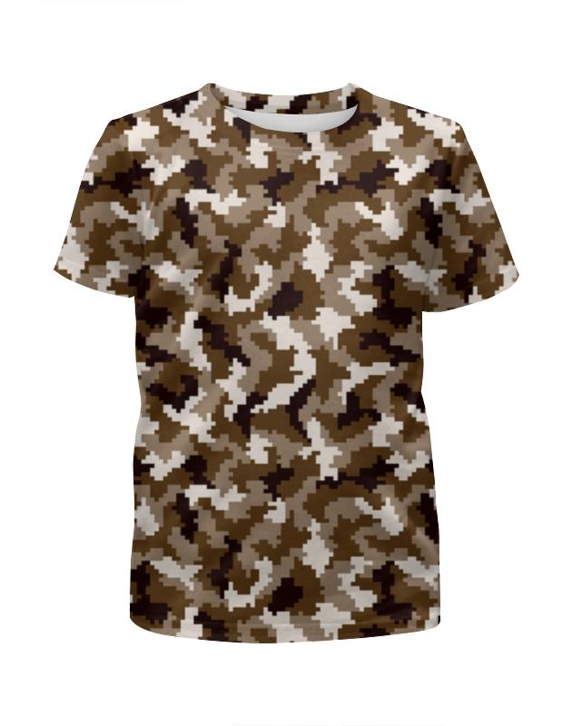 Футболка с полной запечаткой для мальчиков Printio Коричневый камуфляж футболка с полной запечаткой для мальчиков printio spawn