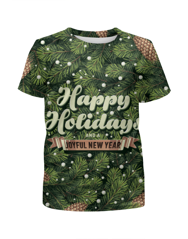 Printio С новым годом! (happy new year) футболка с полной запечаткой для мальчиков printio cock happy new year