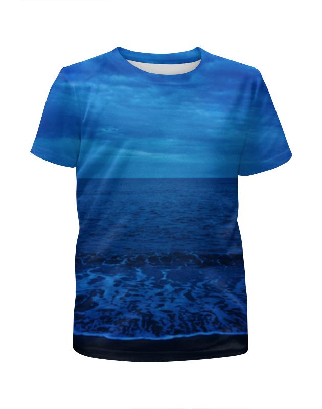 футболка с полной запечаткой для мальчиков printio остров в море Футболка с полной запечаткой для мальчиков Printio Море ночью
