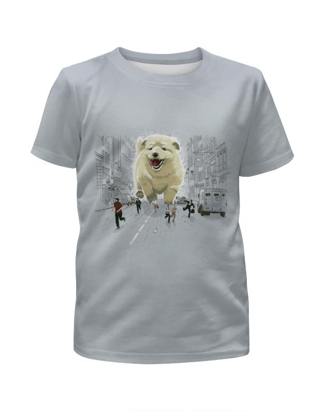 Футболка с полной запечаткой для мальчиков Printio Большая собака футболка с полной запечаткой для мальчиков printio pin claus chimney собака пес