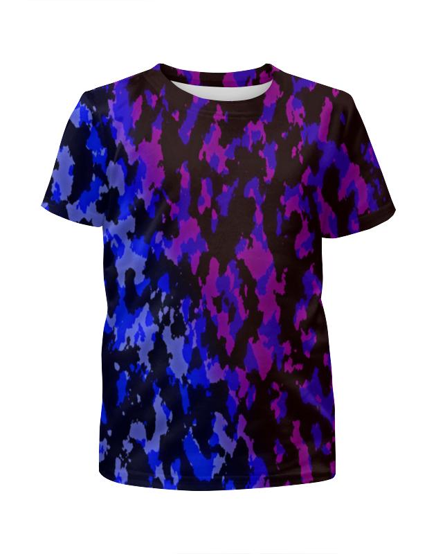 Футболка с полной запечаткой для мальчиков Printio Цветной камуфляж футболка с полной запечаткой для мальчиков printio футбольная мозайка фернандо торрес