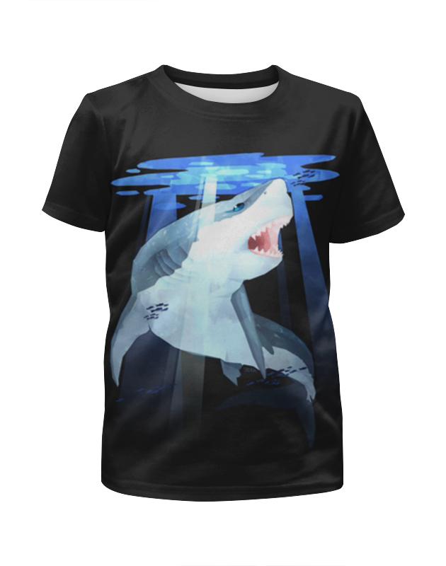 Футболка с полной запечаткой для мальчиков Printio Акула футболка с полной запечаткой для девочек printio акула