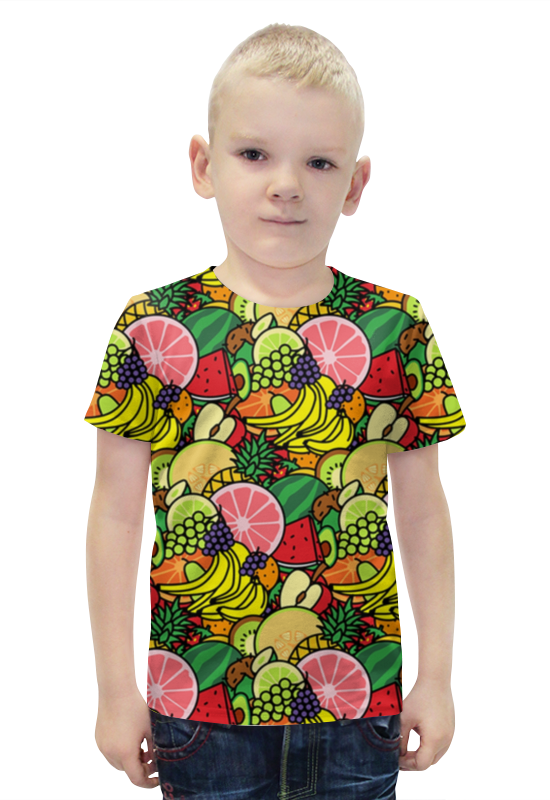 Футболка с полной запечаткой для мальчиков Printio Фруктовая футболка с полной запечаткой для мальчиков printio фруктовая