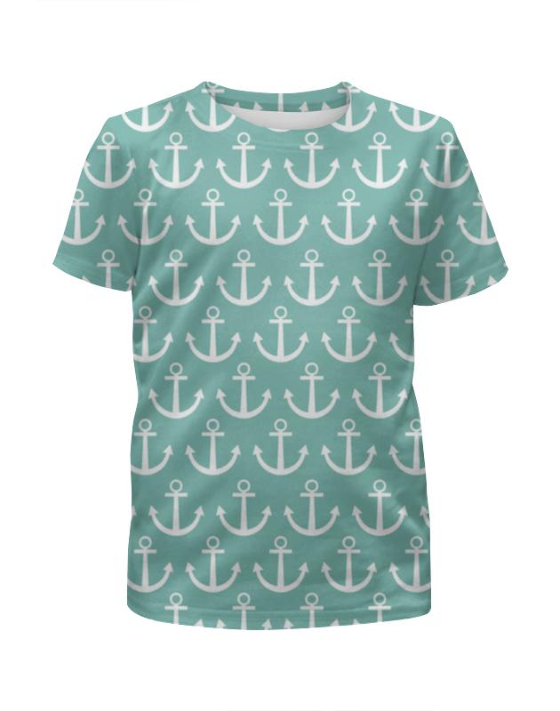 Футболка с полной запечаткой для мальчиков Printio Морское настроение футболка с полной запечаткой для девочек printio зелено белое морское чудовище из глубин