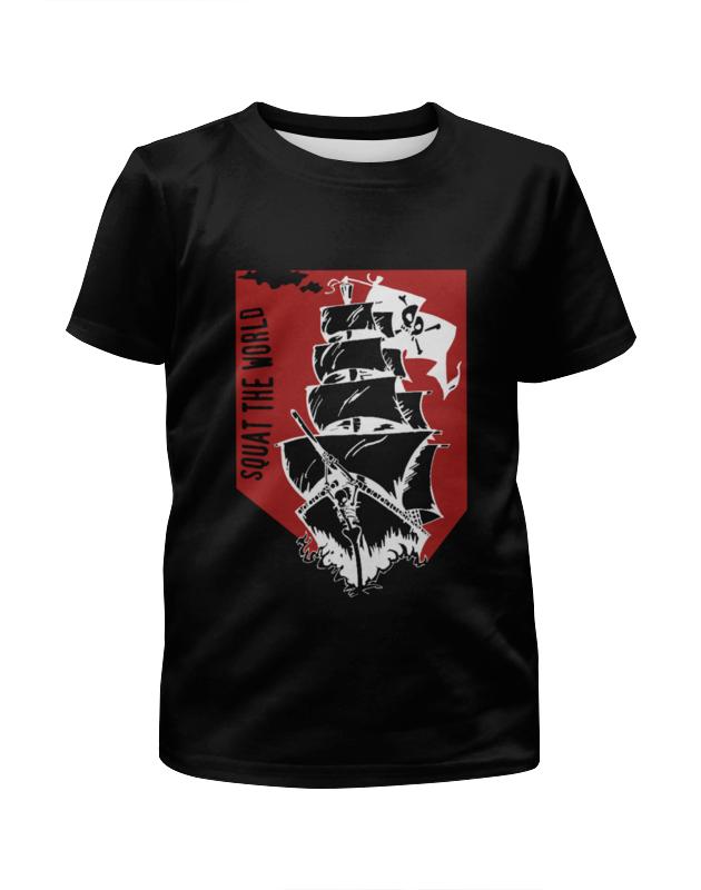 Футболка с полной запечаткой для мальчиков Printio Пиратский корабль александра треффер под пиратским флагом фантазии натему произведений р сабатини