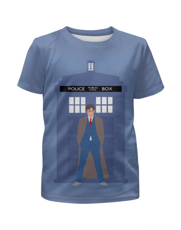 Футболка с полной запечаткой для мальчиков Printio Доктор кто и тардис / doctor who & tardis футболка с полной запечаткой для мальчиков printio доктор кто doctor who