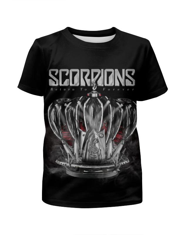 Футболка с полной запечаткой для мальчиков Printio Scorpions band