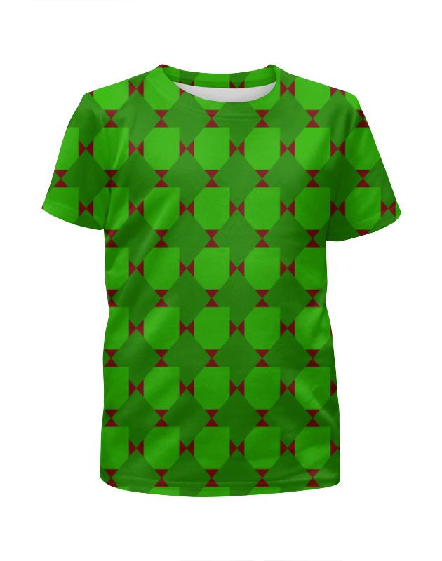 Футболка с полной запечаткой для мальчиков Printio Зеленые ромбы футболка с полной запечаткой для мальчиков printio bats spawn arsb