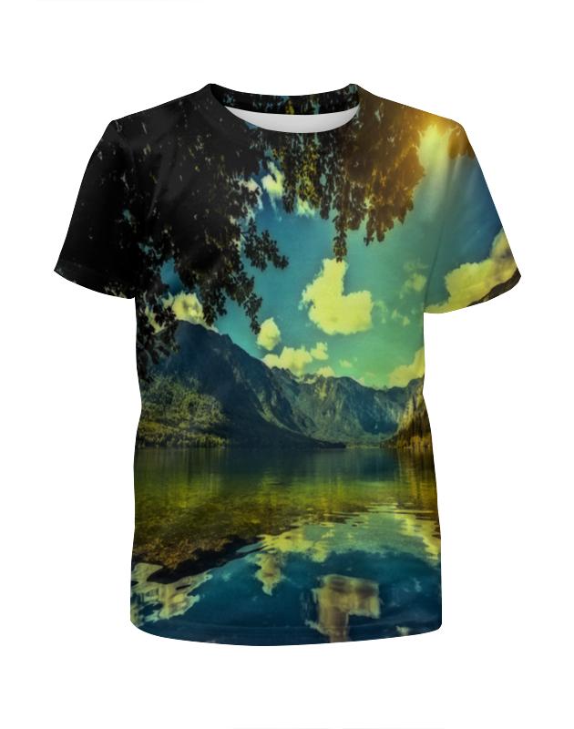 Футболка с полной запечаткой для мальчиков Printio Горный пейзаж футболка с полной запечаткой для мальчиков printio горный ручей