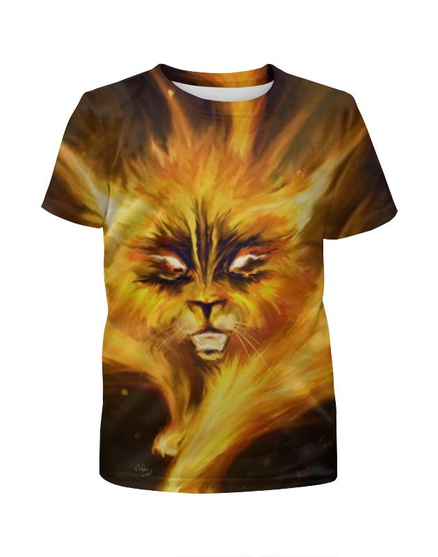 Футболка с полной запечаткой для мальчиков Printio Огненный кот борцовка с полной запечаткой printio огненный