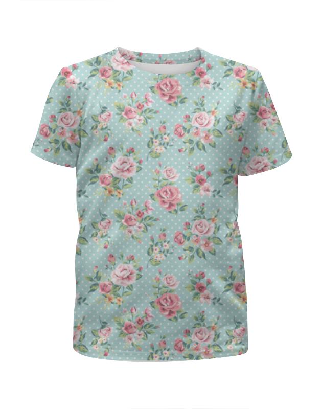 Футболка с полной запечаткой для мальчиков Printio Flowers футболка с полной запечаткой для девочек printio flowers