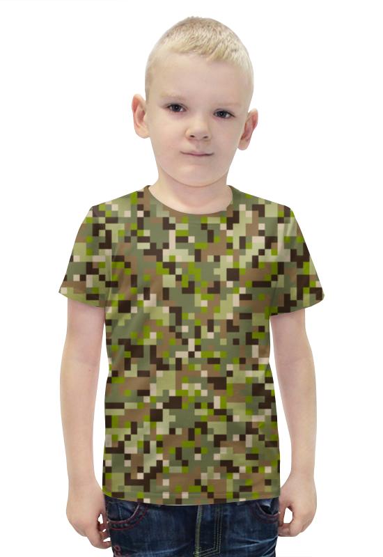 Футболка с полной запечаткой для мальчиков Printio Камуфляж футболка с полной запечаткой для мальчиков printio bats spawn arsb