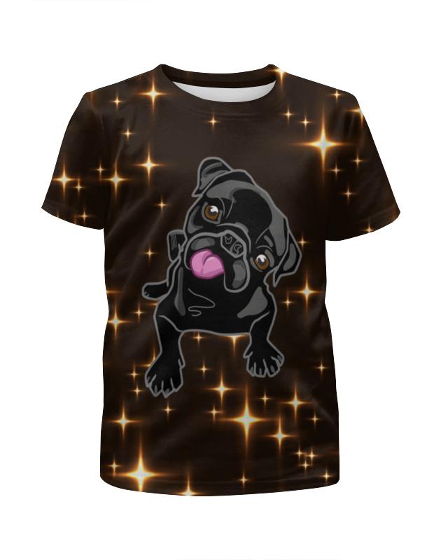 Футболка с полной запечаткой для мальчиков Printio Черный пес футболка с полной запечаткой для девочек printio хипстер пес