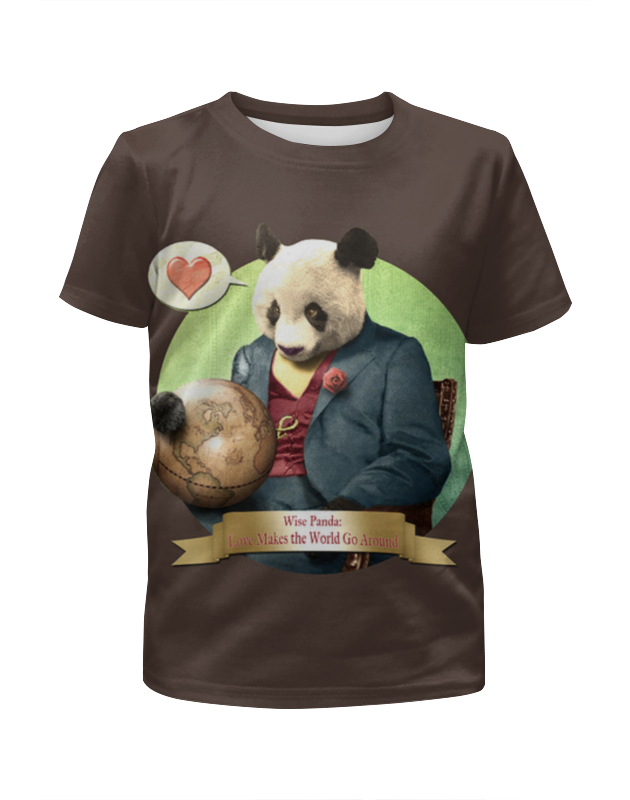 Футболка с полной запечаткой для мальчиков Printio Влюблённая панда футболка с полной запечаткой для девочек printio панда