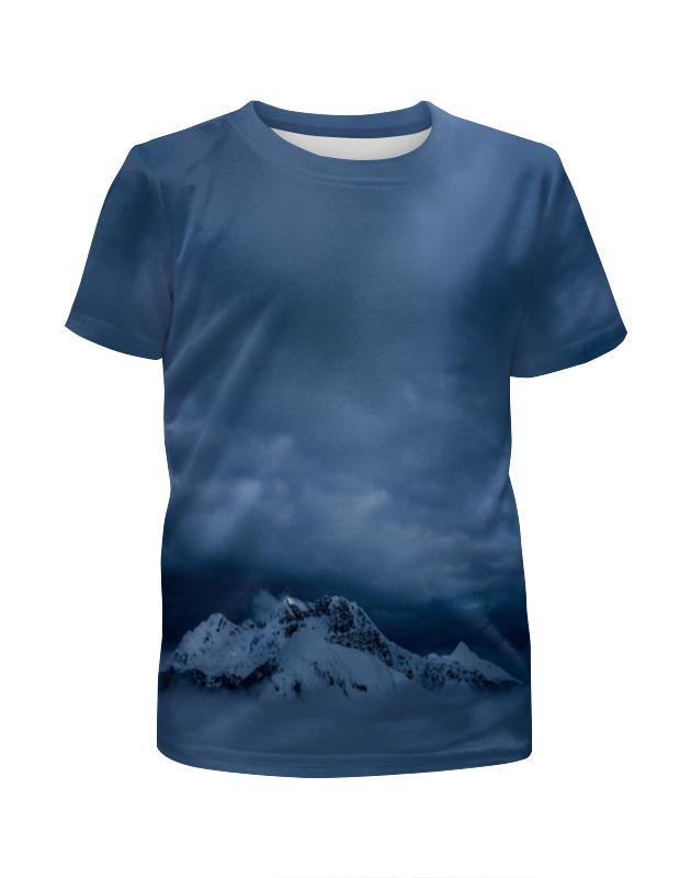 Футболка с полной запечаткой для мальчиков Printio Горный пейзаж футболка с полной запечаткой мужская printio горный пейзаж