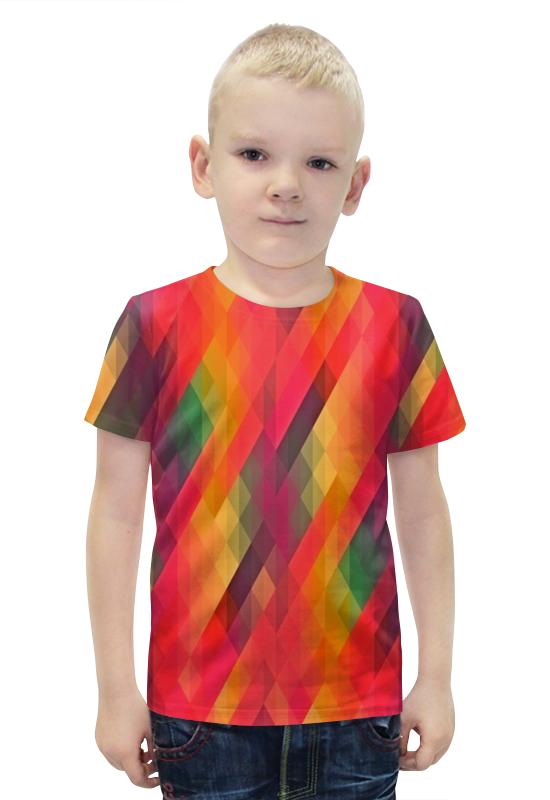 Футболка с полной запечаткой для мальчиков Printio Многоцветный футболка с полной запечаткой для мальчиков printio bats spawn arsb