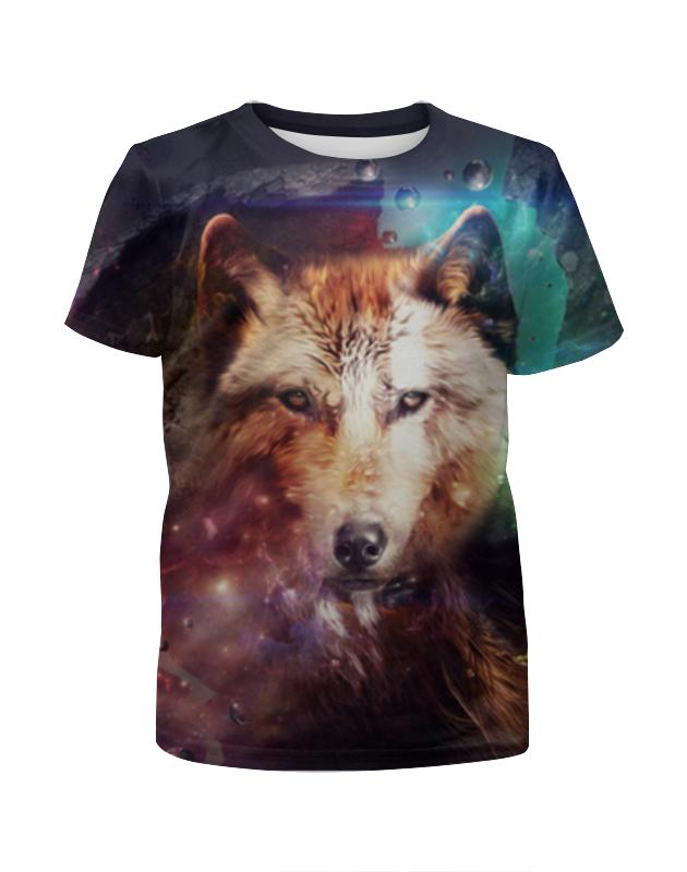 Футболка с полной запечаткой для мальчиков Printio Волк футболка с полной запечаткой для мальчиков printio braaaaatnsssss