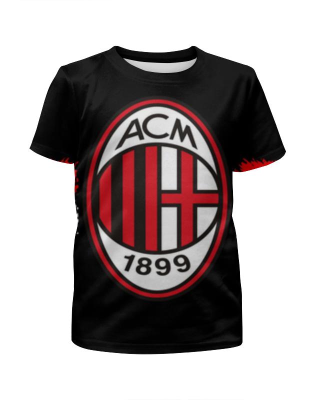 Футболка с полной запечаткой для мальчиков Printio Милан (milan) цена