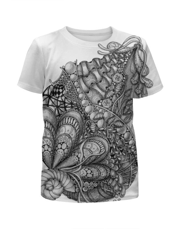 Футболка с полной запечаткой для мальчиков Printio Морская абстракция футболка с полной запечаткой для мальчиков printio фруктовая