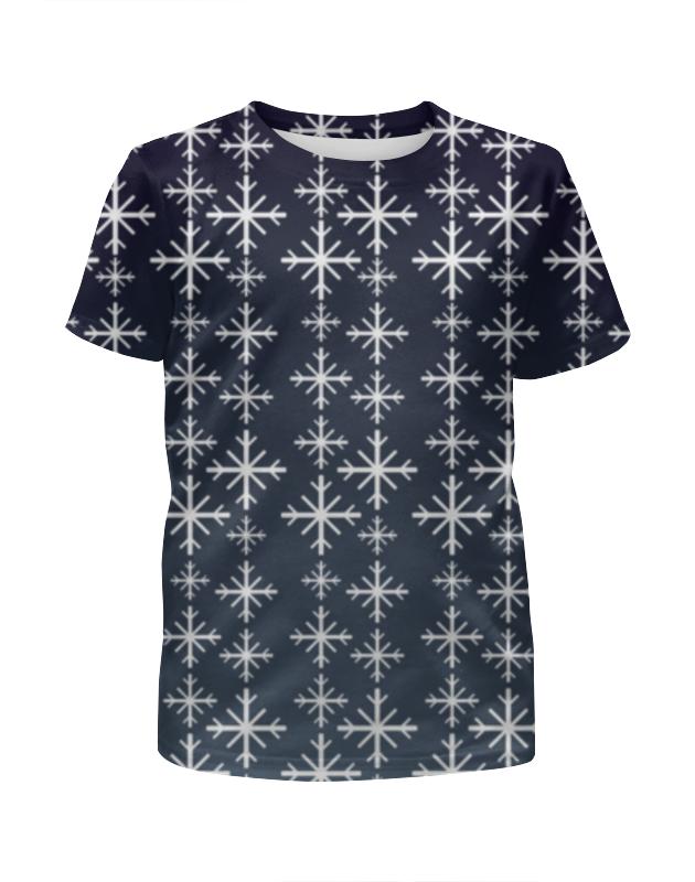 Футболка с полной запечаткой для мальчиков Printio Снежинки футболка с полной запечаткой для мальчиков printio ночь всех святых