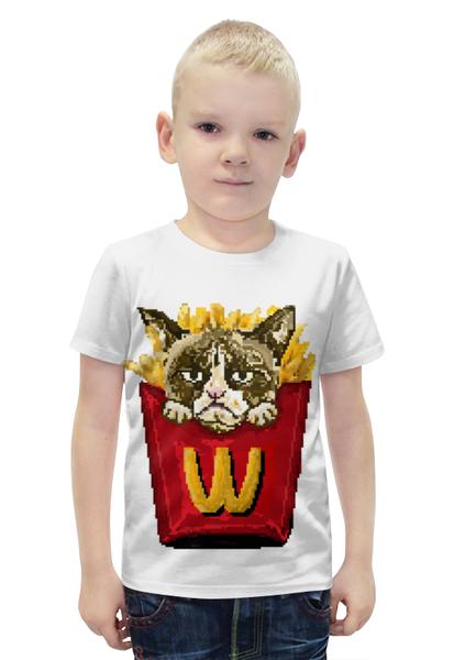 """Футболка с полной запечаткой для мальчиков """"Grumpy cat"""" - прикол, юмор, котик, grumpy cat"""