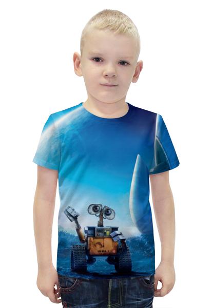 "Футболка с полной запечаткой для мальчиков ""WALL-E"" - машина, робот, валли, добро, wall-e"