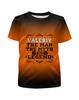 """Футболка с полной запечаткой для мальчиков """"Валерий the Legend"""" - man, legend, myth, валера, валерий"""