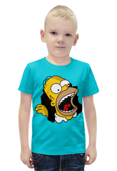 """Футболка с полной запечаткой для мальчиков """"Гомер Симпсон"""" - simpsons, homer, прикольные, гомер симпсон, симпспоны"""