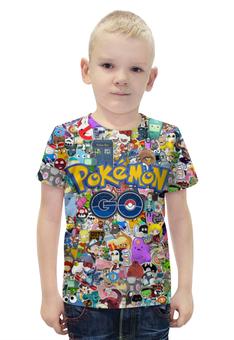 """Футболка с полной запечаткой для мальчиков """"POKEMON GO"""" - pokemon, покемон, пикачу, pikachu, pokemon go"""