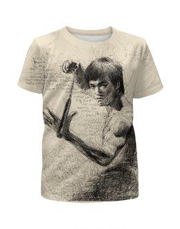 """Футболка с полной запечаткой для мальчиков """"Bruce Lee"""" - karate, bruce lee, fighter, карате, брюс ли"""