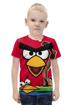 """Футболка с полной запечаткой для мальчиков """"Angry Birds 2"""" - игры, игра, angry birds, мобильные игры, angry birds 2"""