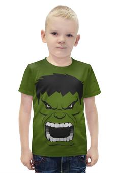 """Футболка с полной запечаткой для мальчиков """"Marvel"""" - комиксы, hulk, marvel, халк"""