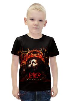 """Футболка с полной запечаткой для мальчиков """"Slayer Repentless 2015 (2)"""" - музыка, рок, металл, slayer, thrash metal"""
