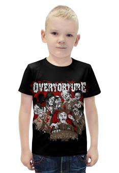 """Футболка с полной запечаткой для мальчиков """"Overtorture"""" - zombie, зомби, кровь, blood, overtorture"""