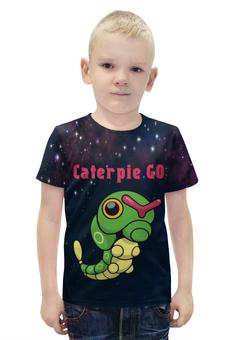 "Футболка с полной запечаткой для мальчиков ""PoKeMon Caterpie "" - гусеница, pokemon, покемон, катерпи, caterpie"