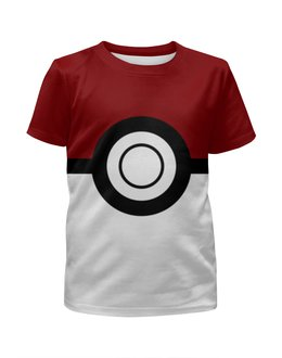 """Футболка с полной запечаткой для мальчиков """"Покебол. Покемоны"""" - покемон, покемоны, покебол, pokemon go, pokeball"""