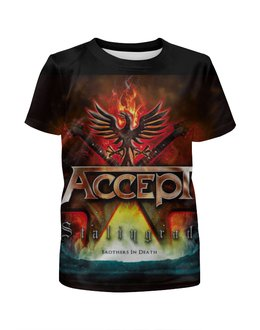 """Футболка с полной запечаткой для мальчиков """"Accept Band"""" - heavy metal, рок музыка, accept, арт дизайн, хеви метал"""