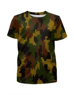 """Футболка с полной запечаткой для мальчиков """"Pixel"""" - 23 февраля, армия, камуфляж, пиксели, силовые структуры"""