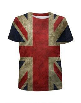 """Футболка с полной запечаткой для мальчиков """"Британский Флаг"""" - англия, флаг, великобритания, great britain"""
