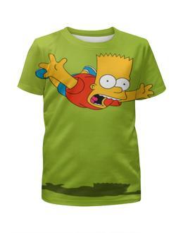 """Футболка с полной запечаткой для мальчиков """"Барт Симпсон"""" - мультфильм, симпсоны, the simpsons, барт, барт симпсон"""