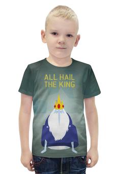 """Футболка с полной запечаткой для мальчиков """"Ледяной король """" - adventure time, время приключений, ледяной король"""