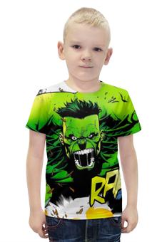 """Футболка с полной запечаткой для мальчиков """"Халк (Hulk)"""" - hulk, мстители, марвел, халк"""