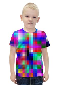 """Футболка с полной запечаткой для мальчиков """"Pixels"""" - арт, стиль, дизайн, графика, абстракция"""