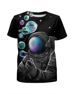 """Футболка с полной запечаткой для мальчиков """"Космические пузыри"""" - космос, абстракция, галактика, космонавт"""