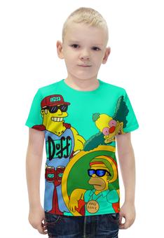 """Футболка с полной запечаткой для мальчиков """"Simpsons"""" - simpsons, homer simpson, krusty, duffmen"""