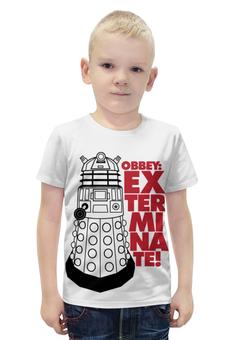 """Футболка с полной запечаткой для мальчиков """"Далеки (Доктор Кто)"""" - doctor who, доктор кто, далеки"""