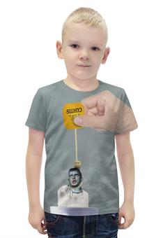 """Футболка с полной запечаткой для мальчиков """"Ian Curtis meme"""" - joy division, пост-панк, кертис, curtis"""
